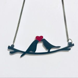 Etsy Jewelry - Laser cut Lovebirds Necklace